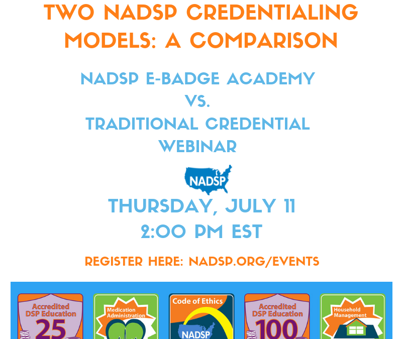 Two NADSP Credentialing Models: A Comparison